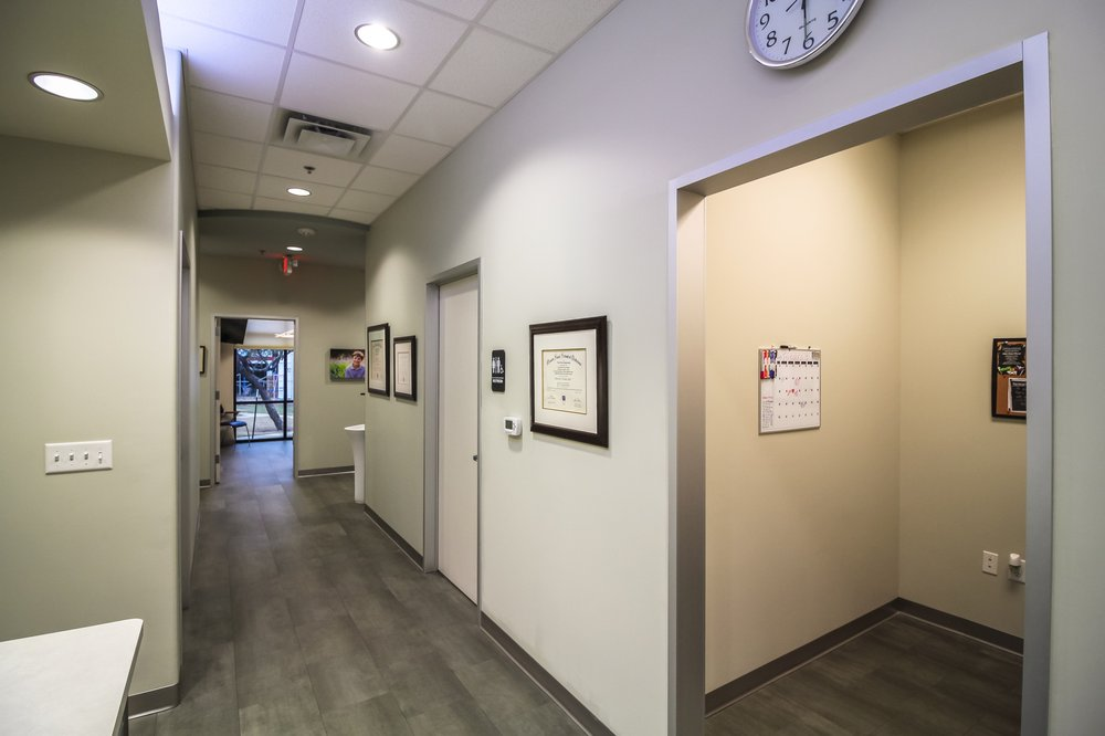Oral Surgery Specialists of Austin hallway in office.
